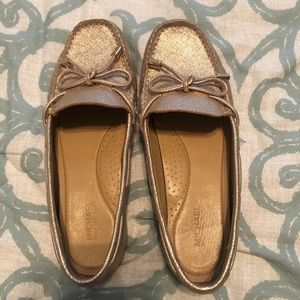 Michael Kors Gold Sutton Moccasin Loafer Flats